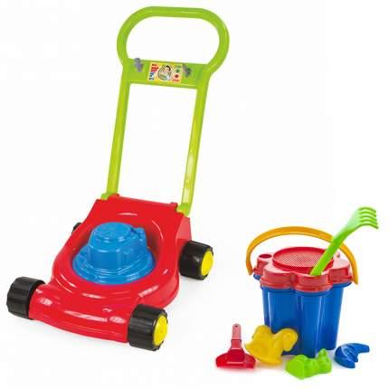 """Игровой набор: Детская газонокосилка (15-10631)+ Песочный набор """"Цветок"""" (40-0100)"""