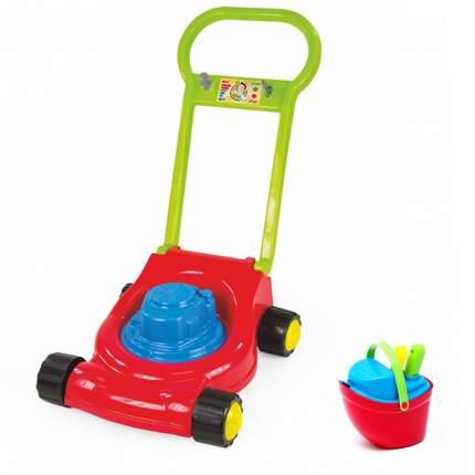 """Игровой набор: Детская газонокосилка (15-10631)+ Песочный набор """"Пароходик"""" (40-0040)"""
