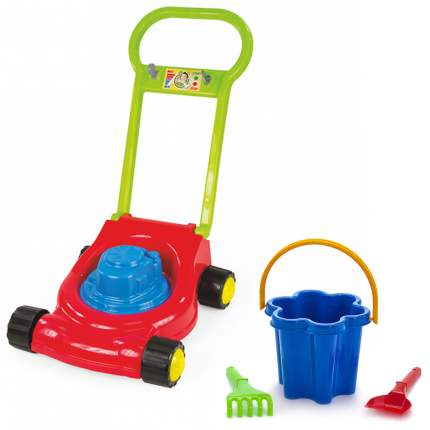"""Игровой набор: Детская газонокосилка (15-10631)+ Песочный набор """"Цветок"""" (40-0078)"""