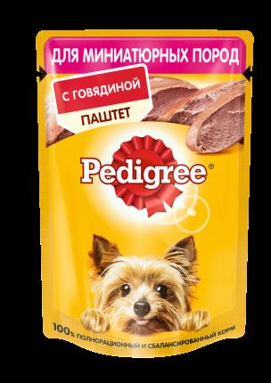 Влажный корм для собак Pedigree, паштет, говядина, 24шт, 80г