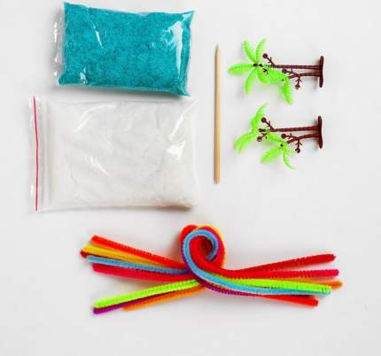 Набор для выращивания кристалла Школа талантов Креативность цвет белый, голубой