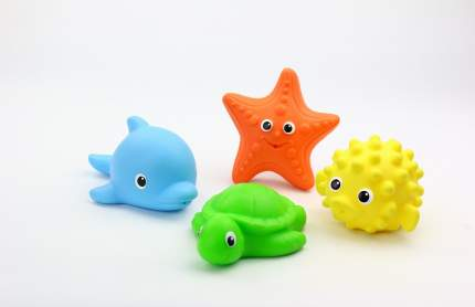 Набор для купания Весна №7 рыба-еж, морская звезда, черепаха, дельфин