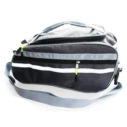 Велосипедная сумка NovaSport Джаст-2 черная/серая