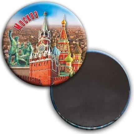 """Магнит """"Москва. Коллаж. Панорама Москвы"""", 56 мм"""