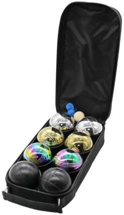 Петанк 8 шаров (стальной+золотой+черный+радужный)
