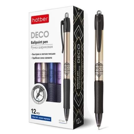 """Ручка шариковая """"Hatber. Deco"""", синяя, 0,7 мм"""