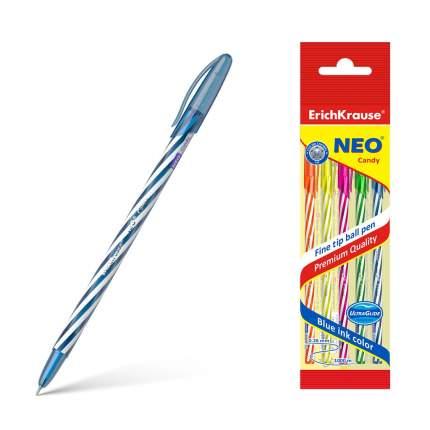 Ручка шариковая ErichKrause® Neo® Candy, синий в пакете 4 шт