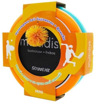"""Игра Мультидиск """"Street Hit"""" Премиум Mini (Бадминтон+Фрисби), 30 см, оранжево-голубой"""