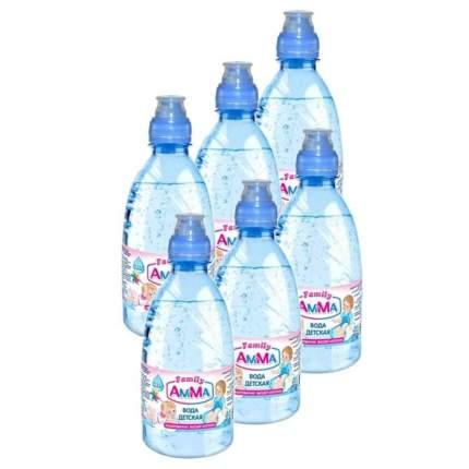 Вода Питьевая AMMA (АМ-МА) 0.33 л спорт-кэп упаковка 6 штук
