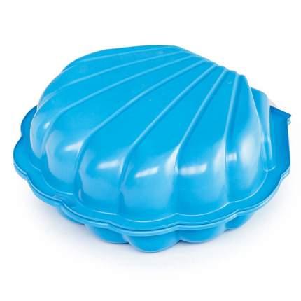 Песочница с крышкой Paradiso Ракушка Maxi голубая, 102x88x20