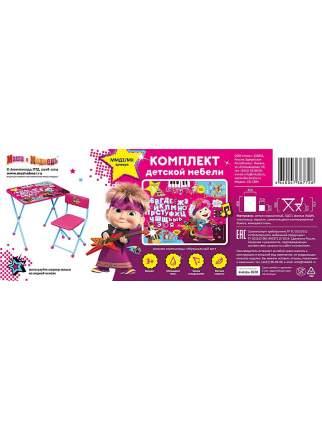 Комплект детской мебели Ника Маша и Медведь Музыкальный хит со столом и стулом