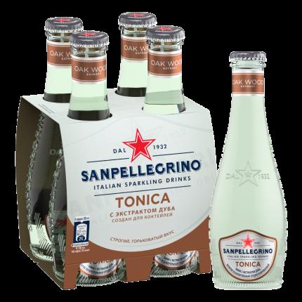 Напиток безалкогольный газированный S.Pellegrino Tonica, 4 шт по 0,20л