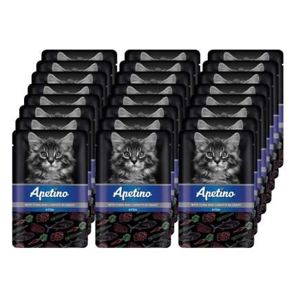 Влажный корм для котят APETINO тунец, морковь в соусе  24 шт