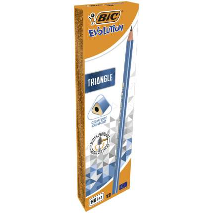 Карандаш чернографитовый BIC Evolution Triangle без ластика Коробка x12