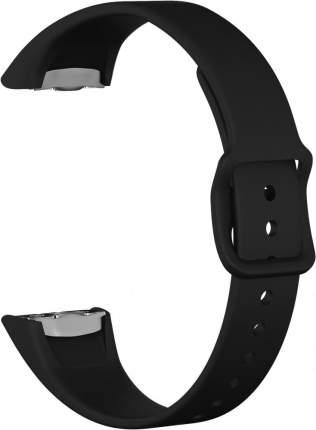 Ремешок силиконовый GSMIN Sport Line для фитнес браслета Samsung Galaxy Fit (Черный)