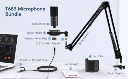 Микрофон Fifine T683 Black