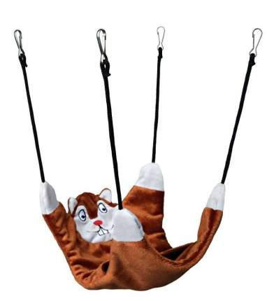 Гамак для хорьков, крыс TRIXIE утепление искусственный мех, нейлон 27x22см коричневый