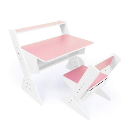 Детская растущая парта и стул Я САМ Так Так, цвет Розовый