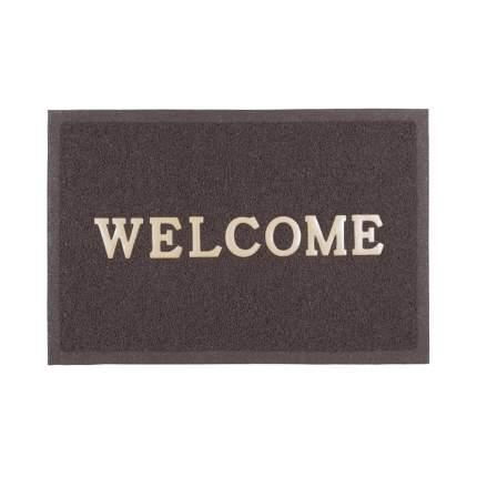 """Коврик """"Spongy. Welcome"""", 40х60 см, цвет Коричневый"""