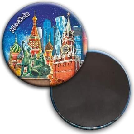 """Магнит """"Москва. Коллаж. Звёздное небо"""", 56 мм"""