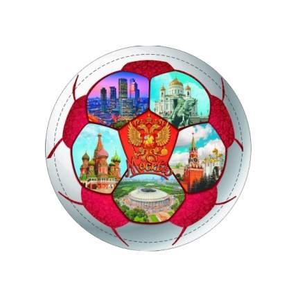 """Магнит закатной """"Москва. Мяч красный"""", 110 мм"""