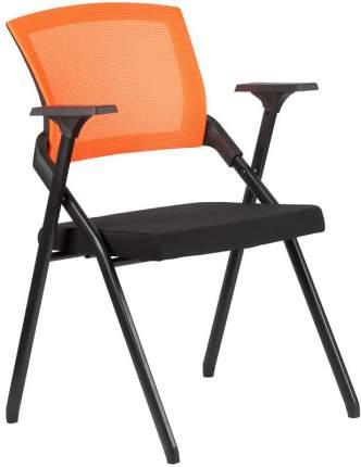 Офисный стул Рива RCH M2001 черный, спинка оранжевая
