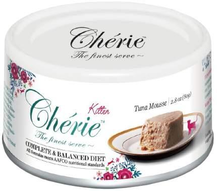 Консервы для котят Pettric Cherie Kitten Comlete & Balanced Diet мусс с тунцом 24шт по 80г