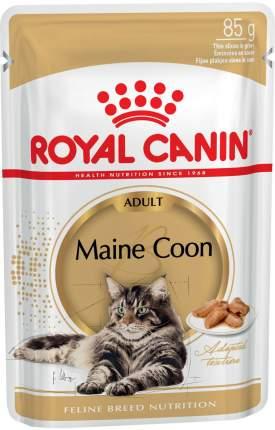 Влажный корм для кошек ROYAL CANIN Maine Coon Adult, мейн-кун, соус, 12шт по 85г