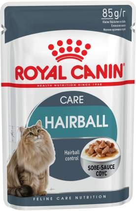 Влажный корм для кошек ROYAL CANIN Hairball Care, для вывода шерсти, соус, 12шт по 85г