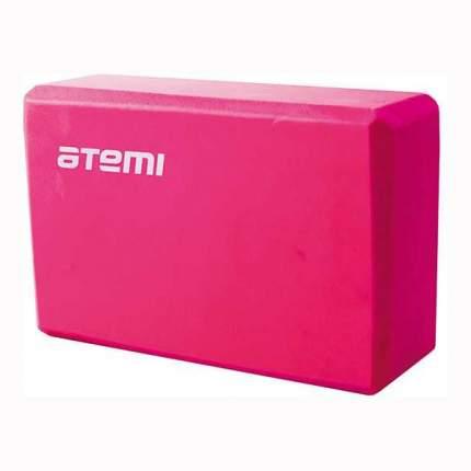 Блок для йоги Atemi, AYB01P, 225х145х75, розовый