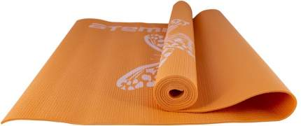 Коврик для йоги и фитнеса Atemi, AYM01PIC, ПВХ, 173х61х0,4 см, оранжевый с рисунком