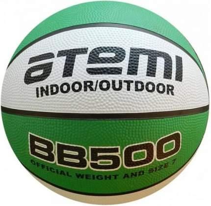 Баскетбольный мяч Atemi BB500 №5 белый/зеленый