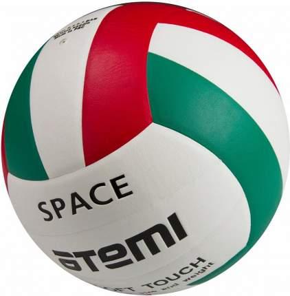 Волейбольный мяч Atemi Space №5 белый/зеленый/красный
