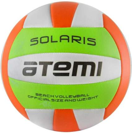 Волейбольный мяч Atemi Solaris №5 белый/зеленый/оранжевый