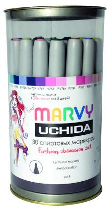 Набор авторский спиртовых маркеров Marvy Fashion Obsession (MAR3000-30шт)