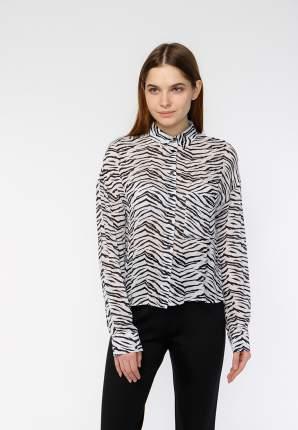 Блуза женская Modis M201W00175 белая 44 RU