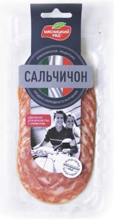 Колбаса мясницкий ряд сальчичон с/в пл/сух нарезка 90 г в/у мпз мясницкий ряд россия