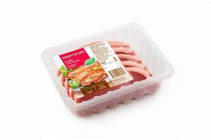Стейк Мираторг сочный охлажденый из свиной корейки 400 г