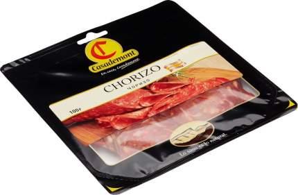 Колбаса Casademont чоризо сыровяленая нарезка вакуумная упаковка 100 г