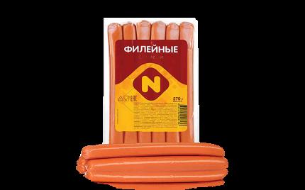Сосиски Останкино филейные вакуумная упаковка 495 г