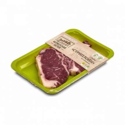 Стейк Мираторг стриплойн из говядины фермерский бычок  вакуумная упаковка 500 г