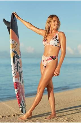 Верх купальника Roxy Pop Surf ERJX304119, bright white nirantara, L