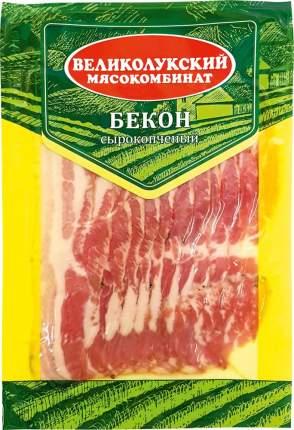 Бекон Великолукский мясокомбинат сырокопченый нарезка 150 г