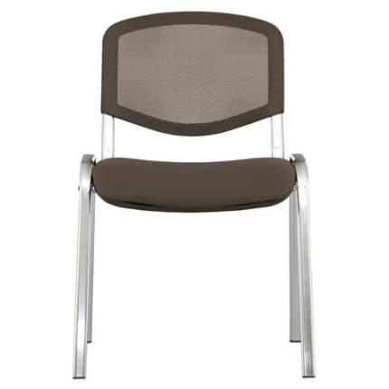 Офисный стул Brabix Iso NET 531983, хром/коричневый