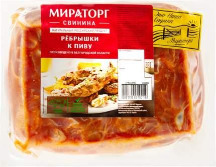 Ребрышки свиные мираторг к пиву охл вес кг в/у мираторг россия