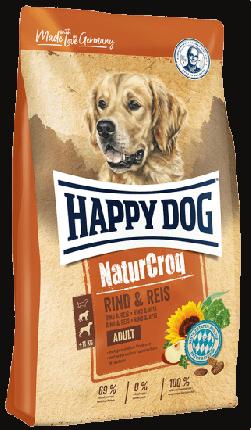 Сухой корм для собак Happy Dog NaturCroq Adult, говядина, рис, 1кг