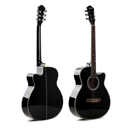 Гитара акустическая CARAVAN MUSIC HS-4020 BK цвет черный перламутровый