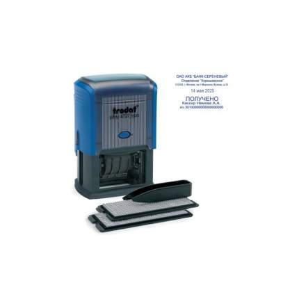 Датер Trodat 4727, самонаборный, 6 строк+дата, оттиск 60х40 мм, кассы в комплекте, синий
