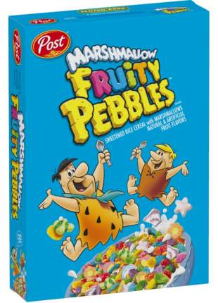 Готовый завтрак Fruitty Pebbles хлопья с маршмеллоу, 311 г, Pebbles