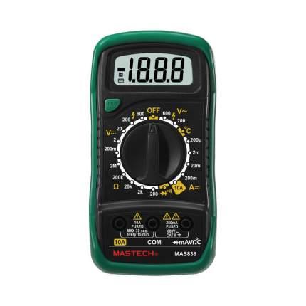 Портативный мультиметр MAS838 в кожухе + прозвонка+измерить температуры MASTECH